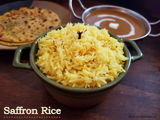 images of Saffron Rice Recipe / Kesar Rice Recipe / Kesar Chaval Recipe / Saffron Steamed Plain Basmati Rice Recipe