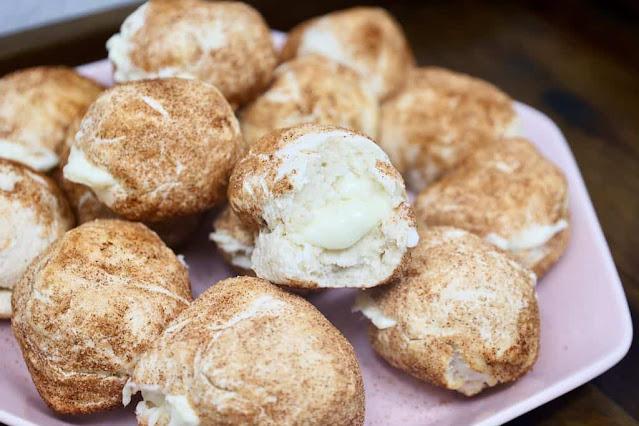 Air Fryer Stuffed Bagel Bites
