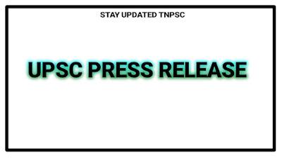 UPSC press release
