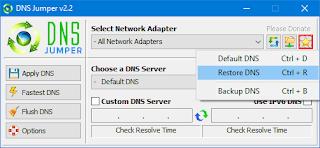 Dns Jumper DNS Sıfırlama
