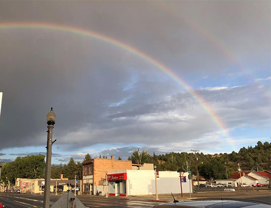 Not much hope of clear dark skies, even after this rainbow in Ely, NV (Source: Palmia Observatory)