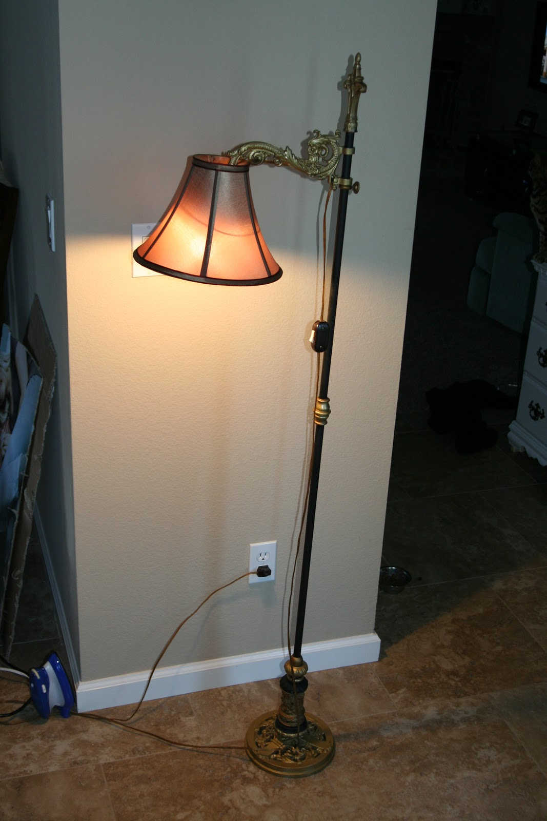 Antique Vintage Floor Lamps, Bridge Garden Picture: Antique Bridge Lamp