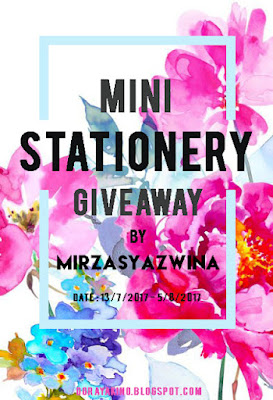 http://dorayakino.blogspot.my/2017/07/mini-stationery-giveaway-by.html