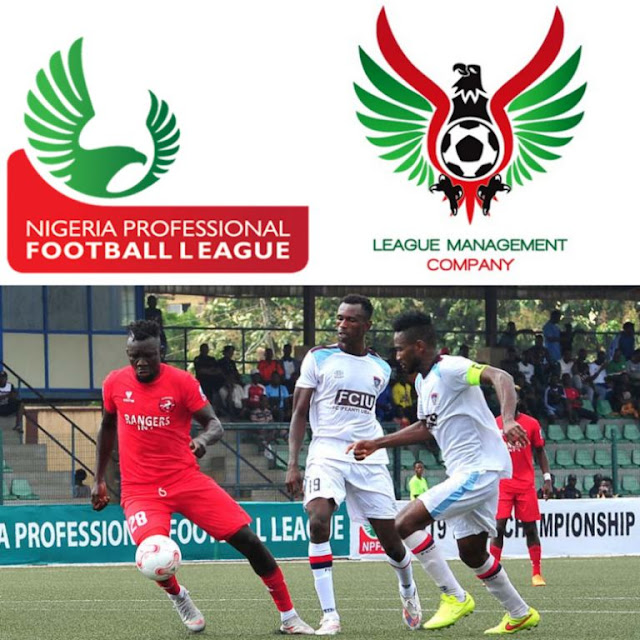 Players in action in the Nigeria Professional Football League