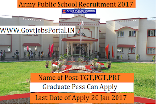 Army Public School Recruitment 2017 For Teachers, LDC Posts
