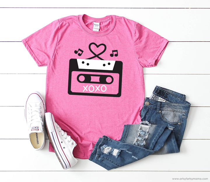 Valentine Mixtape Shirt with Free Valentine Cut Files