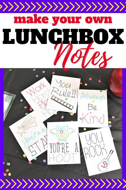 Make lunchtime special with these adorable lunchbox notes for kids.  Perfect for sending in your child's lunch to remind them you are thinking of them.  Use your Cricut to create these cute notes.