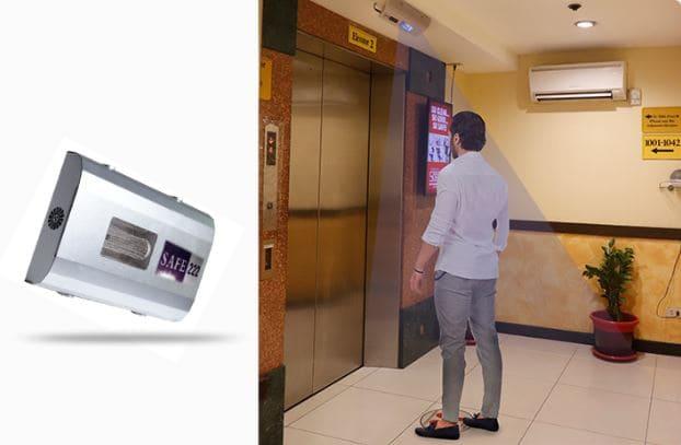 FAR UVC Disinfection at Elevator Lobbies