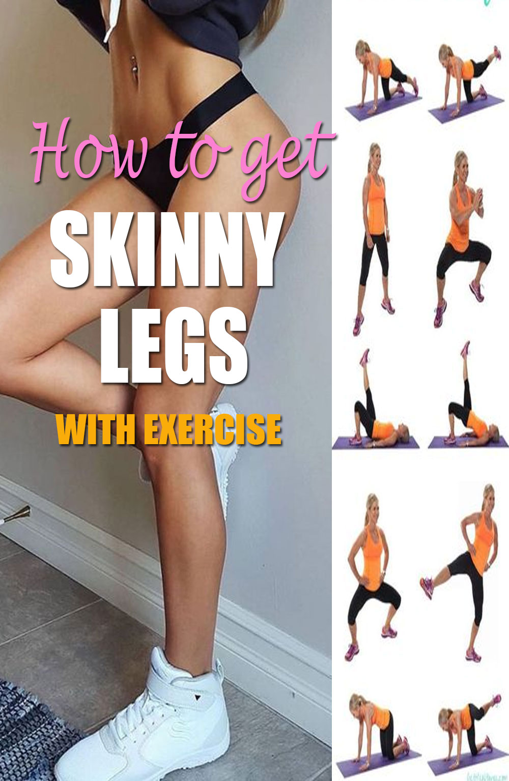 how to get skinny legs with exercise