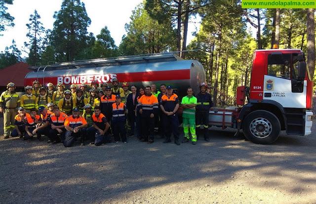 El Cabildo y el Parque Nacional continúan mejorando la formación de los equipos que trabajan en incendios forestales