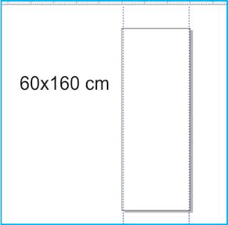Atur ukuran X Banner menjadi 60 x 160 cm