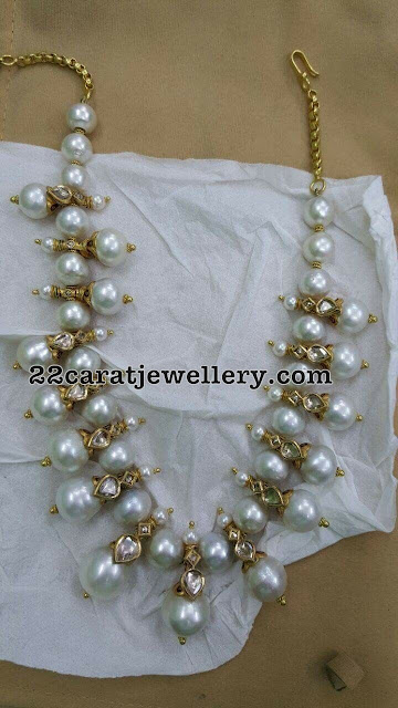 Large Pearl and Polki Necklace