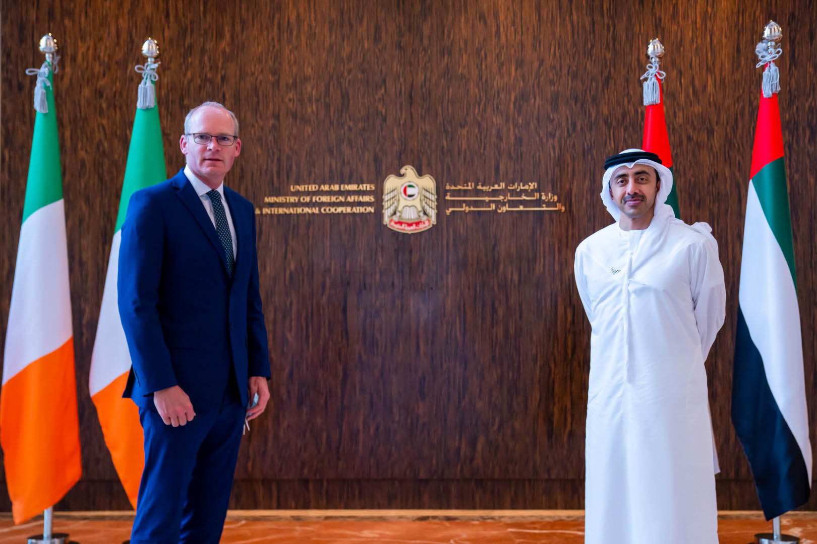HH Sheikh Abdullah meets Irish Minister of Foreign Affairs