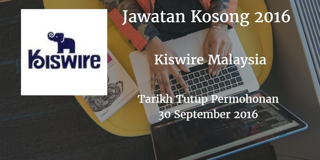 Jawatan Kosong Kiswire Malaysia 30 September 2016