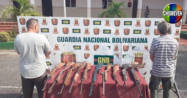 Dos detenidos en Altagracia con un arsenal de escopetas