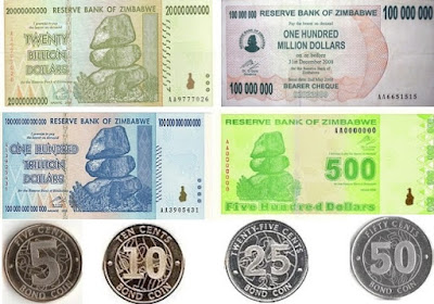 Countries and Currency Zimbabwe dollar