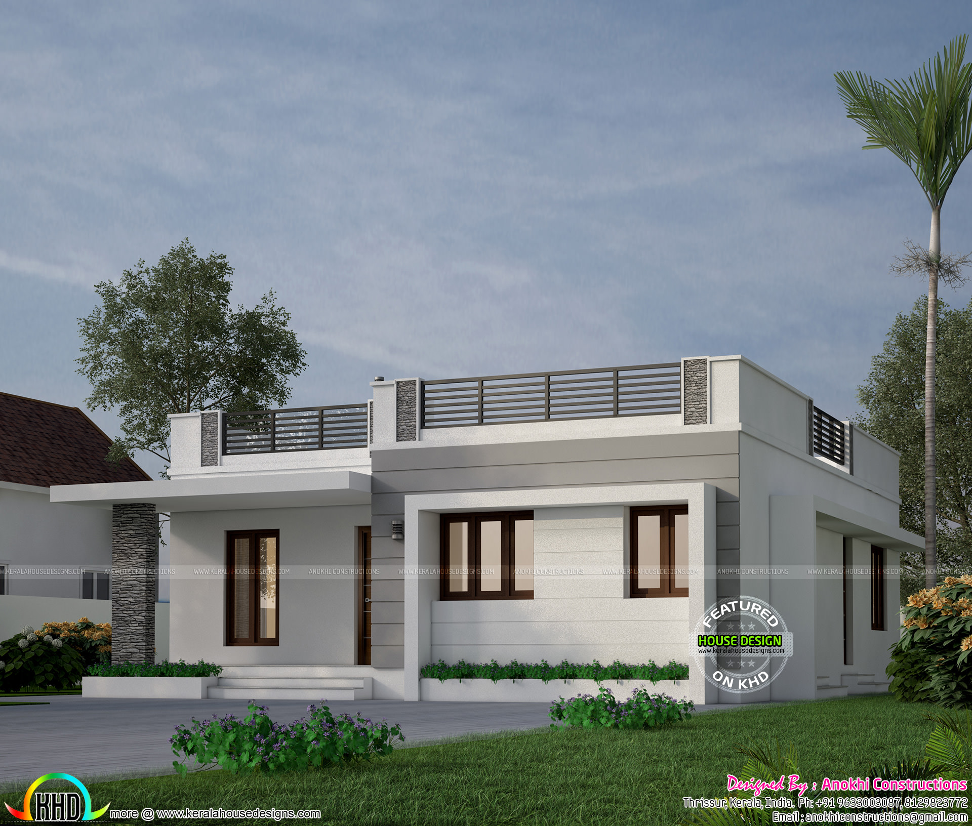 18 lakhs budget estimated house in kerala kerala home for Low cost house plans with estimate