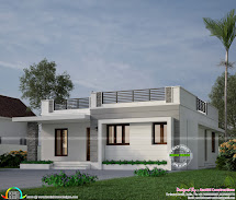Single Story House Front Elevation Design