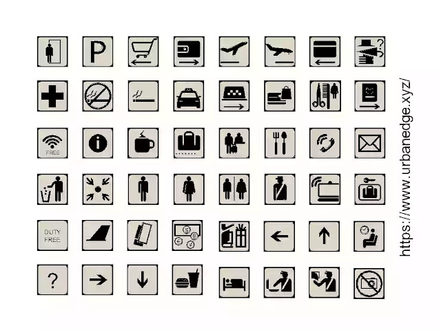 Airport navigation icon and sign cad blocks download, 45+ dwg sign cad blocks