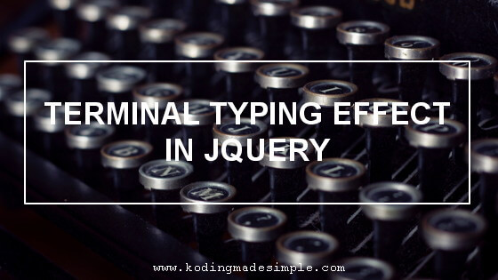 jquery animated typing effect typed.js example