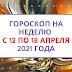Гороскоп на неделю с 12 по 18 апреля 2021 года