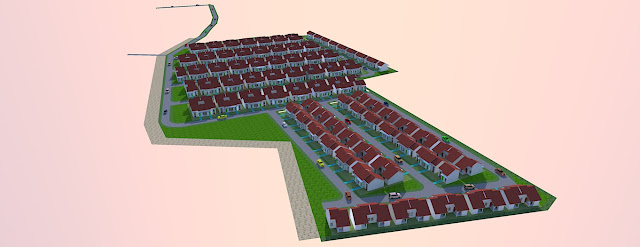 membuat site plan sederhana