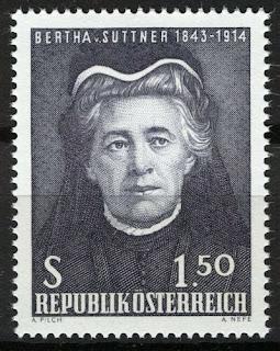 Austria 1965, 60th anniv Nobel Prize Bertha von Suttner