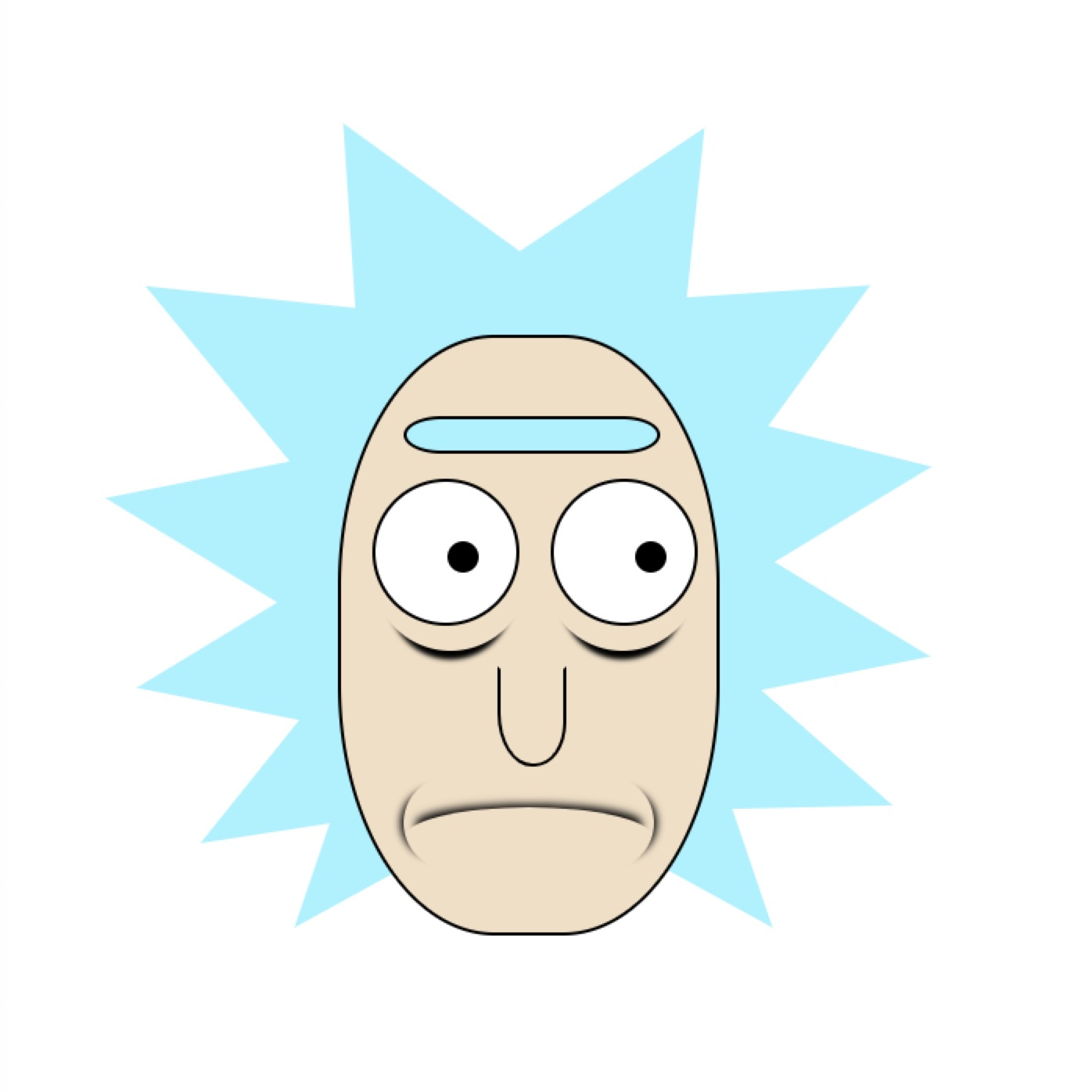 Pure CSS Rick from ''RICK AND MORTY'' | potatomato