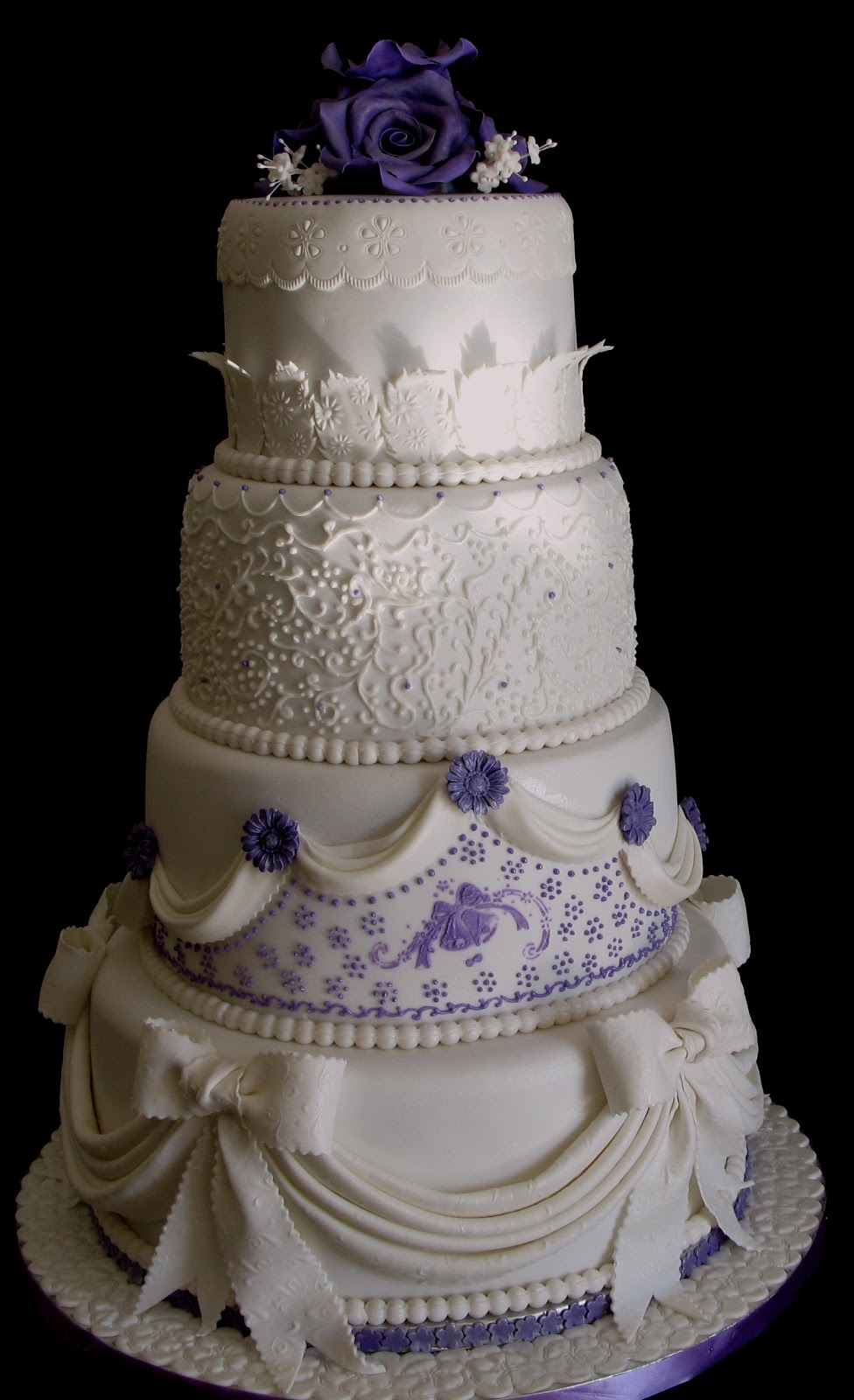 Sugarcraft By Soni Four Layer Wedding Cake Drapes And