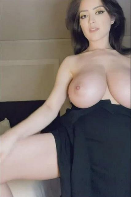 big tit model topless webcam show