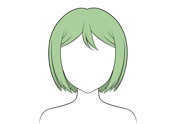 Shading rambut anime combed