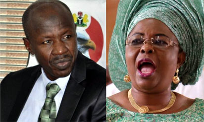 Patience Jonathan accuses EFCC of hiring mercenaries to plead guilty  Previous First Lady, Mrs. Persistence Jonathan has picked gaps in the credibility of the delegates of the four organizations