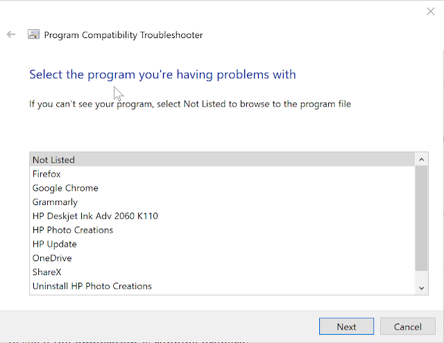 Use the Program Compatibility Troubleshooter
