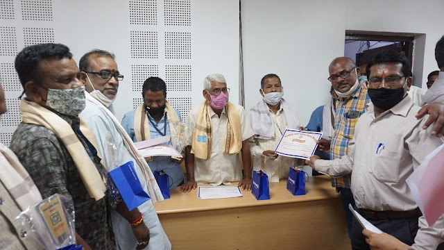 भिलाई निगम के 7 कर्मचारी  सेवानिवृत्त ,ससम्मान विदाई दी गई