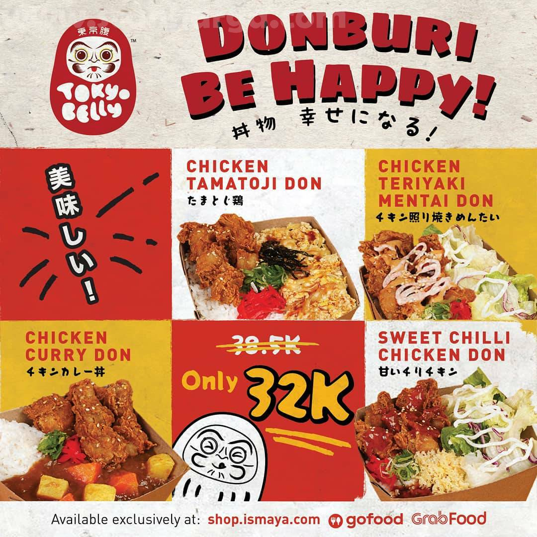 Promo TOKYO BELLY Donburi Be Happy! Harga Spesial cuma Rp 32.000