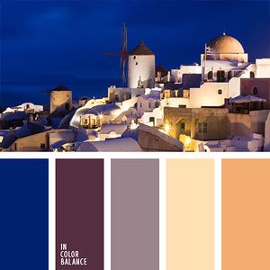 Города и страны - гармоничные палитры в 5 цветов