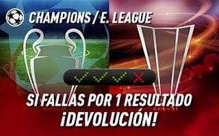 sportium Champions + E.League: Combinada con seguro 9-10 marzo 2021