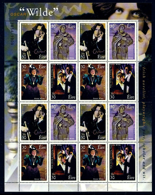 Ireland 2000 Oscar Wilde Sheet Of 16