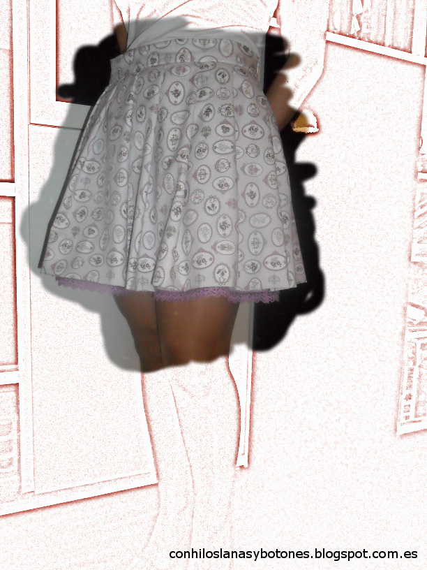 conhiloslanasybotones - falda plisada mujer