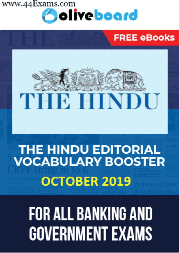 The-Hindu-Editorial-Vocabulary-Booster-October-2019-For-All-Competitive-Exam-PDF-Book