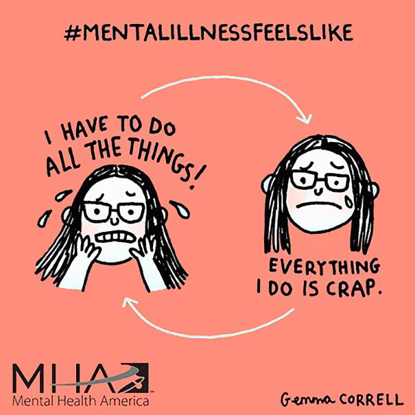 52 Humorous Illustrations By Artist Who Struggles With Depression