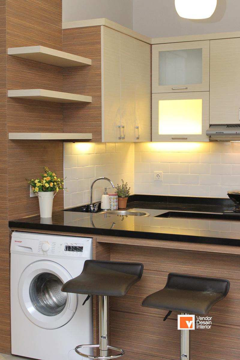 Interior kitchen set minimalis cilandak