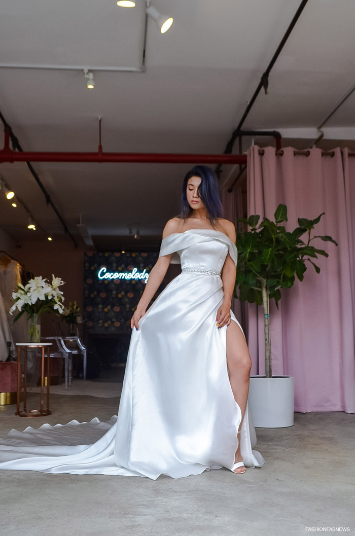 Acetate Satin Wedding Dress