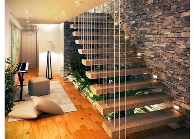 """The open space under your indoor stairs can be used in so many interesting ways. Like a beautiful small garden that will bring the nature in your home. And my """"48 Images of Indoor Staircase Open Space Garden Design Ideas"""" collection will surely inspire you and help awaken your creativity to make your own garden ideas design."""