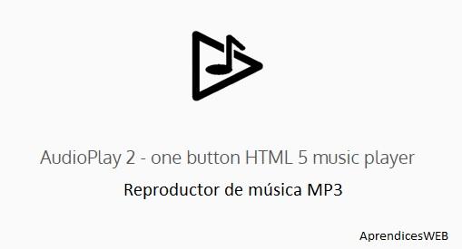 audioplay2 reproductor de música en linea HTML5 - Portada