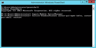 Switch Core to GUI in Windows 2012 R2 using Powershell