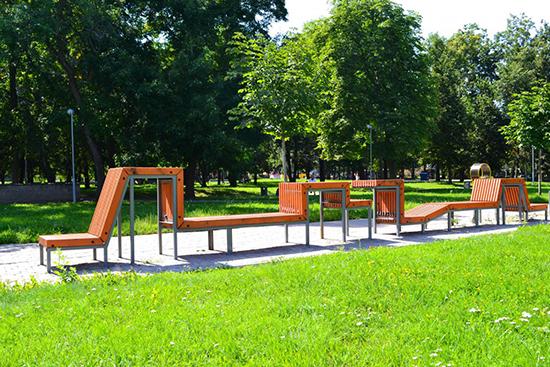 kursi taman inspiratif dengan beton dan kayu