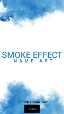 membuat tulisan efek asap