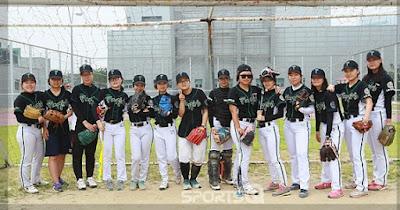 The only female college baseball team in Korea.