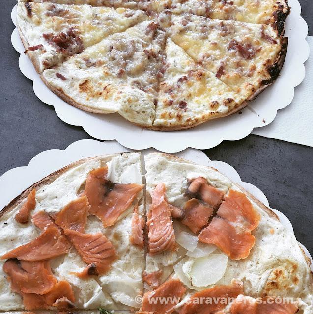 Tarta flambeé. Un plato típico alsaciano | Alsacia y Selva Negra en autocaravana